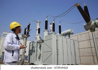 Jiangxi China-March 10, 2014:Huadian Group distributed energy station is operating. heating, cooling and electricity can be provided. This is China's first industrial park distributed energy projects.