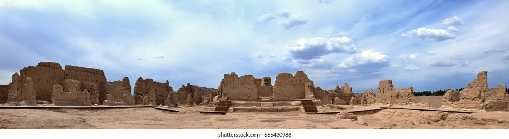 Jiaohe Ancient Ruins in Turpan range is a natural fortress located atop a steep cliff on a leaf-shaped plateau between two deep river valleys in Xinjiang Uighur Autonomous Region of China.