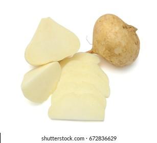 jicama vegetables isolated on white background