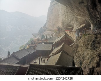 Jiexiu City, Shanxi Province, China (October 2018) : Mianshan Mountain are over 360 scenic spots scattered over 14 areas such as The Temple on Cliff,Taoist Temple