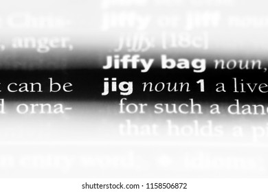 jig word in a dictionary. jig concept.