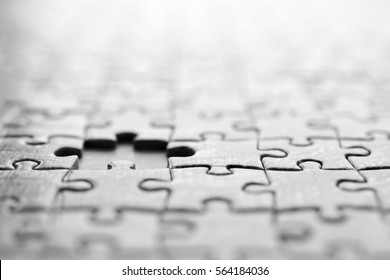 Jigsaw puzzle, background with missing piece..