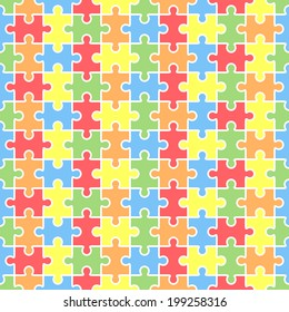 Jigsaw puzzle blank template.