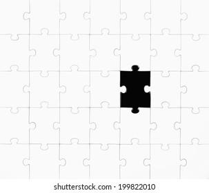 Jigsaw puzzle, illustration
