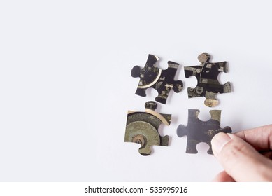 jigsaw puzzle with image of machine