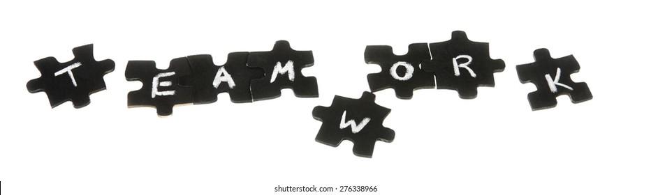 Jigsaw Puzzle isolated on white