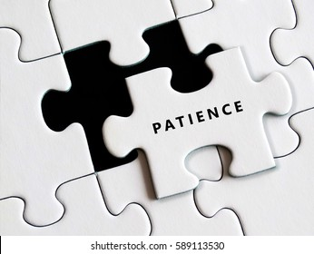 Jigsaw puzzle patience and perseverance concept