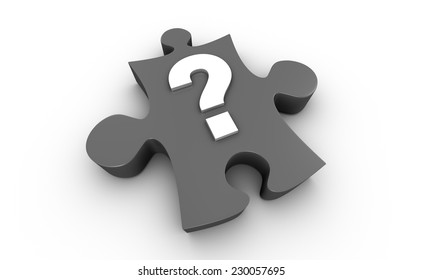 Jigsaw Puzzle Question Mark