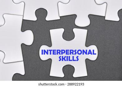 The jigsaw puzzle written word interpersonal skills