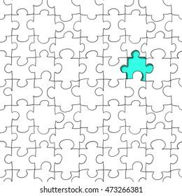 jigsaw seamless pattern hand drawing