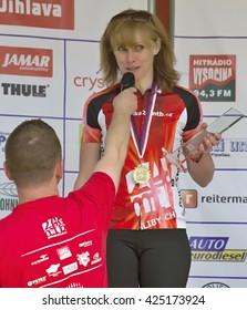 JIHLAVA, CZECH REPUBLIC - MAY 22st 2016 championship cycling CR 24 MTB JIHLAVA. May 22st 2016 Jihlava Czech Republic