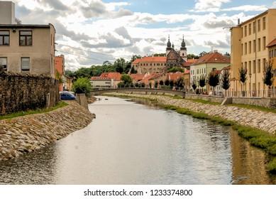 The Jihlava river in Trebic, Czech Repubblic, Europe