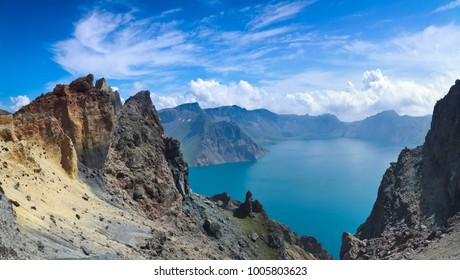 Jilin Province Changbai Mountain Tianchi natural landscape