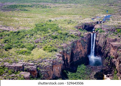 Jim Jim Falls from above, Kakadu. Top End, Northern Territory, Australia
