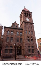 Jim Thorp, PA / USA - March 30, 2019: County of Carbon Court House in Jim Thorp, PA.