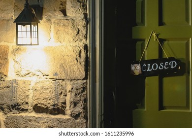 Jim Thorpe, PA - 25 December 2019 - Stone Row Pub and Eatery closed on Christmas.