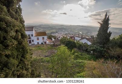 Jimena de la Frontera town, Cadiz, Spain. View from castle road