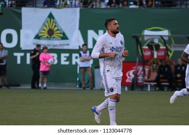 Jimmy Ockford defender for the San Jose Earthquakes at Providence Park in Portland Oregon USA July 7,2018.