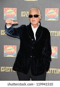 Jimmy Page at the Led Zeppelin Celebration Day DVD screening launch held at Hammersmith Apollo London. 12/10/2012 Picture by: Henry Harris