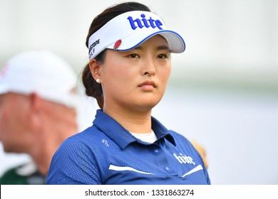 Jin Young Ko of Republic of Korea in action during the Honda LPGA Thailand 2019 Round 1 at Siam Country Club, Old Course on February 21, 2019 in Chonburi, Thailand.