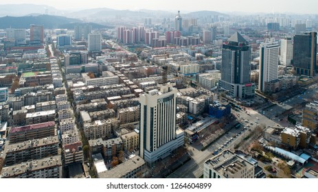 Jinan building aerial photography