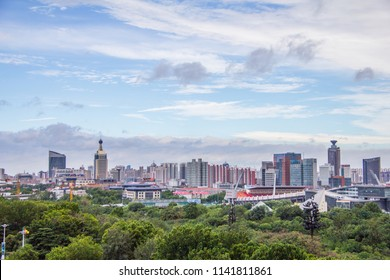 Jinan city, the capital of Shandong Province, view from Shandong Hotel.