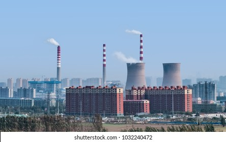 Jinan City, Shandong Province thermoelectric industrial building landscape