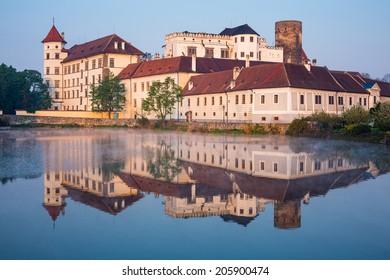 Jindrichuv Hradec castle in South Bohemia, Czech Republic in morning light