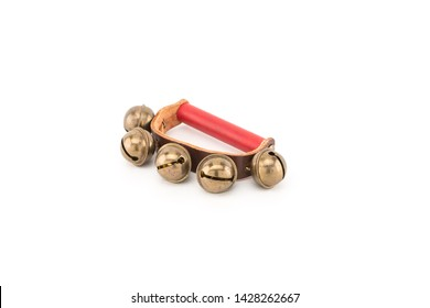 A jingle bell or sleigh bell is a type of bell which produces a distinctive 'jingle' sound, especially in large numbers.