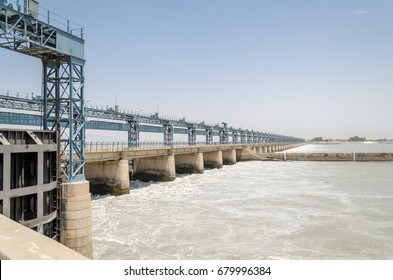 Jinnah Barrage Dam on Indus River, Mian Wali District, Punjab, Pakistan on 7th July 2017