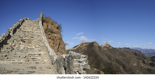 Jinshanling Great Wall - Jinshanling Great Wall, a famous part of the wall, is shown in circa Apr. 2013, located in Chengde City, Hebei Province, China