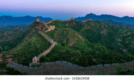 Jinshanling Great Wall in the morning sun
