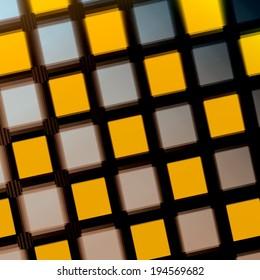 Jittered Squares - Yellow Purple Matrix - Pattern - Background