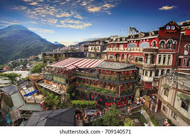 The Jiufen, Taipei, Taiwan. The meaning of the Chinese text in the picture is the red globe of Jiufen