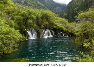 Jiuzhaigou Jian Zhuhai waterfall