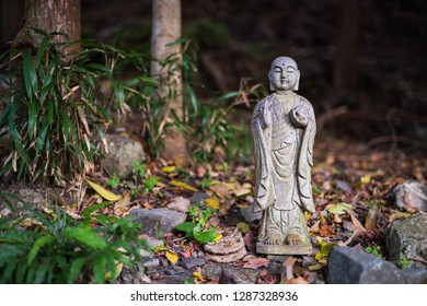 Jizo, the deity of travelers, japanese stone statue.