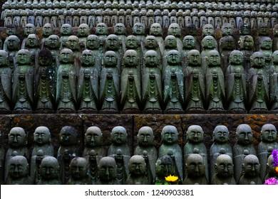 Jizo in japanese temple