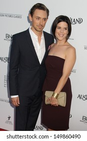 "JJ Feild and Neve Campbell at the ""Austenland"" Los Angeles Premiere, Arclight, Hollywood, CA 08-08-13"