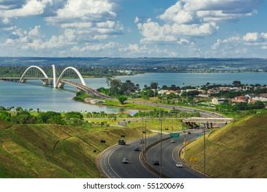 JK Bridge in Brasilia, Brazil.