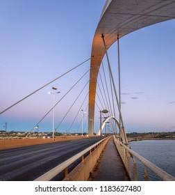 JK Bridge at sunset - Brasilia, Distrito Federal, Brazil