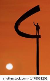 JK Memorial (Juscelino Kubitchek, the foundour of Brasília City) - Oscar Niemeyer Project. Brasilia. Brazil. 01/2018