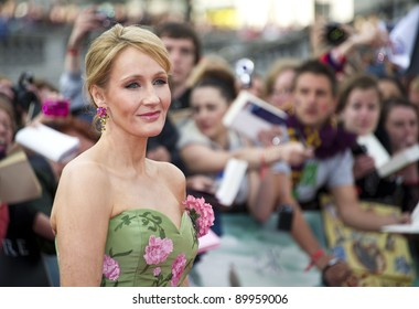 JK Rowling arriving for the World Premiere of 'Harry Potter & the Deathly Hallows pt2', Trafalgar Square, London. 07/07/2011  Picture by: James McCauley / Featureflash