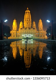 JK Temple with its Symmetrical Reflection In Kanpur, India