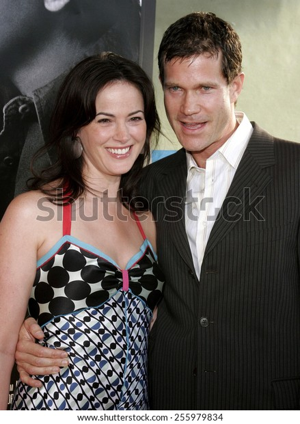 "Joanna Going and Dylan Walsh attend the Los Angeles Premiere of ""The Lake House"" held at the Cineramadome in Hollywood, California on June 13, 2006."