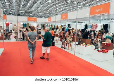 Joao Pessoa, Paraiba, Brazil - January 24, 2018 - The Salao do Artesanato - Portuguese for craft expo - is a handicraft fair in the Brazilian state of Paraiba