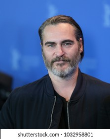 Joaquin Phoenix poses at the 'Don't Worry, He Won't Get Far on Foot' photo call during the 68th Berlinale Film Festival Berlin at Hyatt Hotel on February 20, 2018 in Berlin, Germany