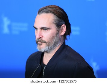 Joaquin Phoenix poses at the 'Don't Worry, He Won't Get Far on Foot' photo call during the 68th Berlinale Film Festival Berlin at Hyatt Hotel on February 20, 2018 in Berlin, Germany.