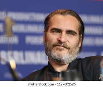 Joaquin Phoenix is seen at the 'Don't Worry, He Won't Get Far on Foot' press conference during the 68th Film Festival Berlin at Hyatt Hotel on February 20, 2018 in Berlin, Germany.