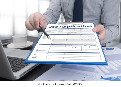 JOB Application Applicant Filling Up the Online  Profession Apply Hiring