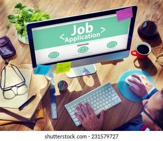 Job Application Career Apply Vacancy Concepts